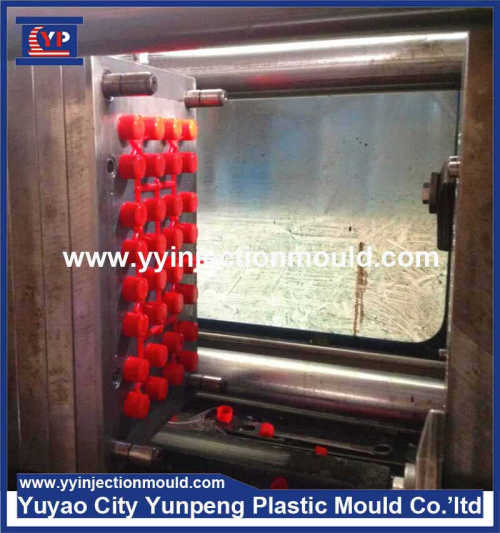 Custom injection mold made screw plastic molding part swing top bottle caps with ribbed sides (From Cherry)
