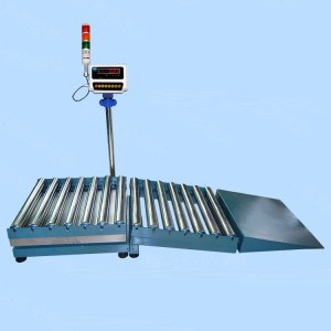 RCSR6060 slope roller conveyor scale with alarm