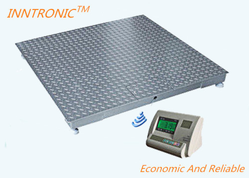 Gray 1.2x1.2m Wireless Floor Scale , Industrial Floor Weighing Scales With Weight Indicator