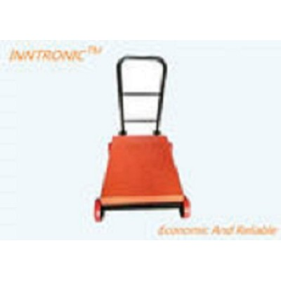 Movable Industrial Weighing Scales 60x80cm 500kg With Wheels And Back Rail