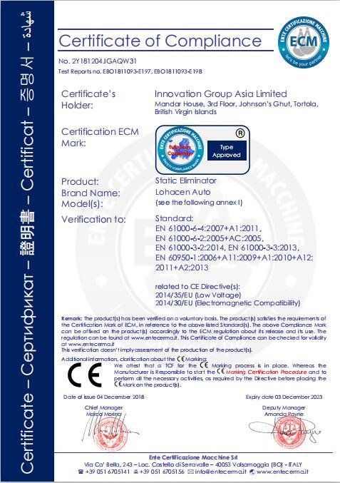 CE certificate of Static Eliminator static bar  Antistatic bar  power supply for antistatic bar