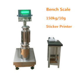 WF4050-15010 150Kg/10g high accuracy STAINLESS STEEL bench weighing scale with sticker printer