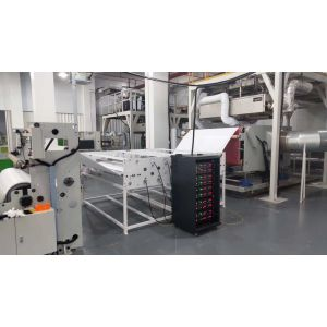 Melt Blown Fabric Static Charging System for Oiled P2 test