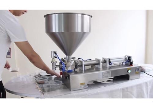 Semi Automatic Ice Cream Water Liquid Honey Juice Sauce Soft Drink Tomato Paste Filling Machine