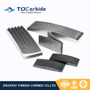 Strong wear resistance Customized tungsten  carbide crusher jaw