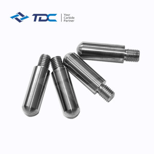 Tungsten carbide pegs for bead mill