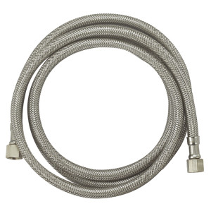 1/4''comp*1/4''comp OD: 3/8''-Flexible stainless steel ice maker braided hose