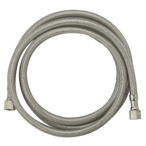 F1/4''comp*F1/4''comp OD3/8'' Flexible stainless steel ice maker braided hose