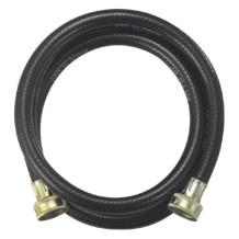 Black PVC reinforced washing machine water inlet hose