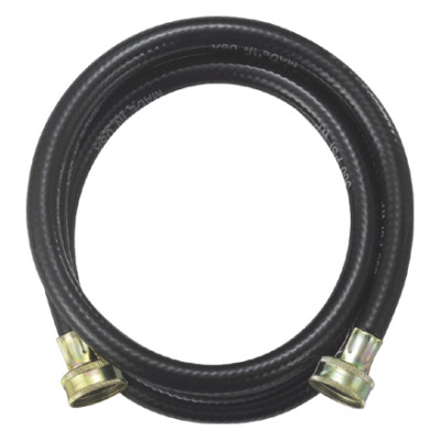 Black PVC reinforced washing machine water inlet hose
