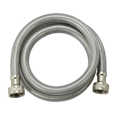 Flexible stainless steel braided washing machine hose with PVC coated