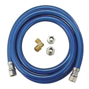 Flexible Blue PVC coated stainless steel braided dishwasher hose connector