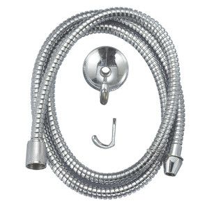 Flexible single double fastening shower hose with 304 stainless steel fitting