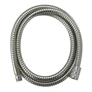 F1/2 Polishing Surface Stainless Steel Double-fastening Bathroom Shower Hose