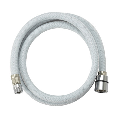 Flexible nylon braided reinforced PVC shower hose with brass nuts