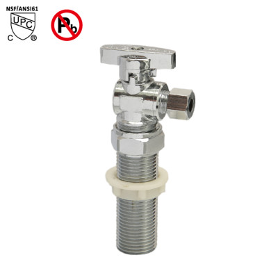 1/2-inch MALE(NPSM) ×1/4-inch OD Ice Maker Angle Stop Valve Chrome Plated