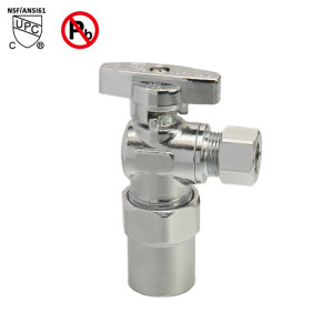 1/2-inch CPVC ×3/8-inch OD Chrome Plated Brass Angle Stop Valve