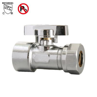 1/2-inch FIP × 1/2-inch OD or 7/16 Slip Joint Lead Free Compression Multi Turn Straight Stop Valve