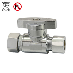 Retro 3/8-inch FE × 3/8-inch OD Compression Turn Straight Supply Stop Valve