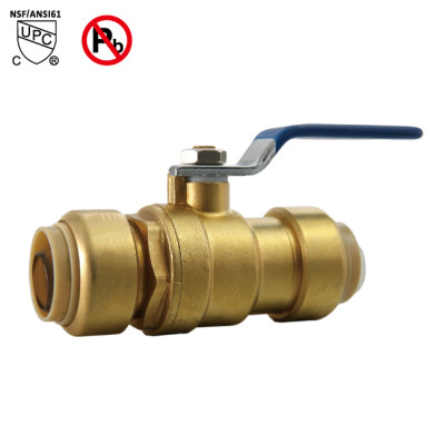 1/2 Inch ×1/2 Inch Push Fit Ball Valve Water Valve Shut Off Push to Connect