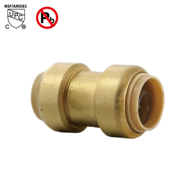 3/4 Inch ×1/2 Inch Push Fit Coupling Fittings Lead Free Brass