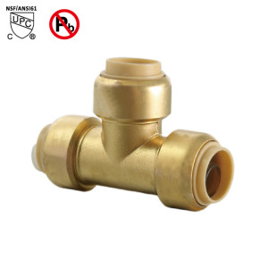 1-Inch Tee 1 Inch Push to connect PEX Copper CPVC