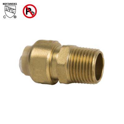 1/2 Inch Puch Fit×1/2 Inch MNPT Male Thread Adapters Sharkbite Style Push To Connect