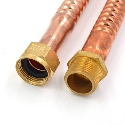 Corrugated Copper Water Heater Connectors with 3/4-Inch Male Pipe Thread