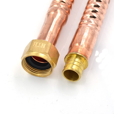 3/4 Inch ×3/4 Inch PEX Fitting Corrugated Copper Water Heater Connector