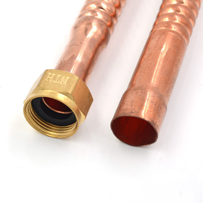 3/4 Inch FIP ×3/4 Inch SWEAT Corrugated Copper Water Heater Connector
