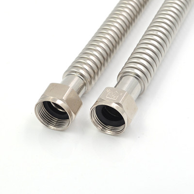 304 Stainless Steel Corrugated Water Heater Connectors 3/4-Inch FIP X 3/4 Inch FIP