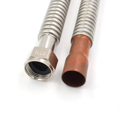 3/4 Inch FIP×3/4 Inch Female Sweat Stainless Steel Corrugated Water Heater Connector