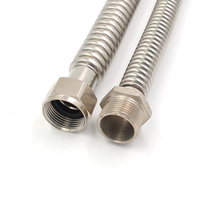 3/4 Inch FIP×3/4 Inch Male Nut Stainless Steel Corrugated Hose For Heater