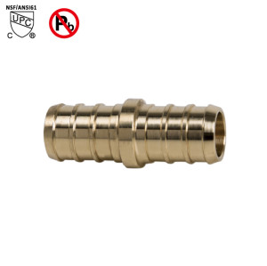 1/2 Inch PEX ×3/8 Inch PEX Coupling Barb Fitting Brass