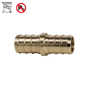 3/4 Inch PEX ×3/4 Inch PEX Coupling Barb Fitting Brass