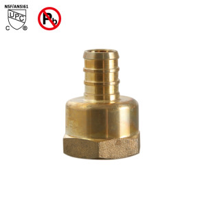 3 4 pex barb 1 2 female pipe thread adapter lead free brass pex fitting tthose. Black Bedroom Furniture Sets. Home Design Ideas