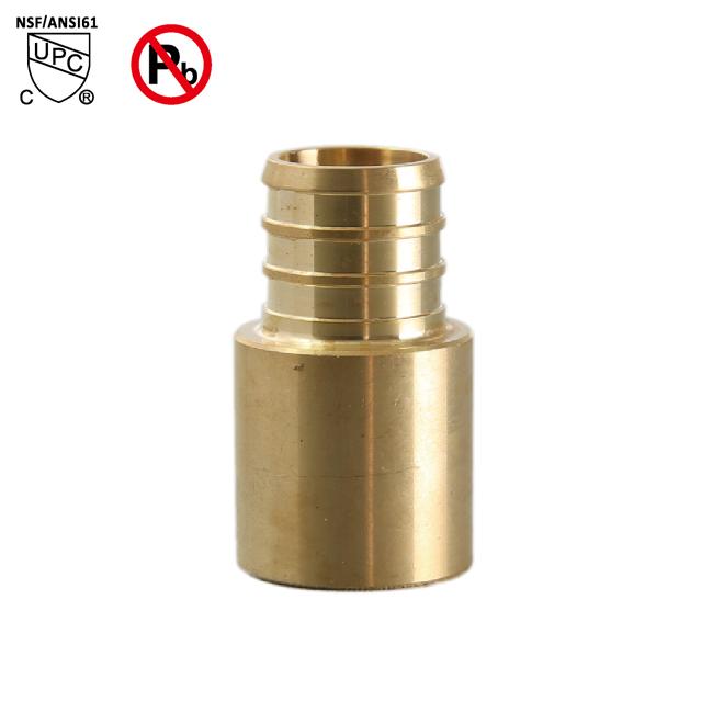 "25 1//2/"" PEX x 3//4/"" Male Sweat Adapters Brass Crimp Fittings"