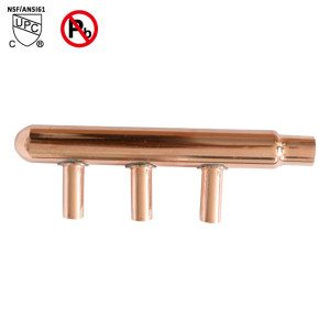 3-Port Sweat Copper Manifold With 1/2