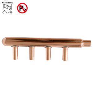 4-Port Sweat Copper Manifold With 1/2