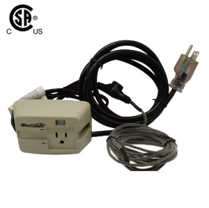 Roof And Gutter Cable Controller Automatic De-Icing Thermostatically Controlled Outlet