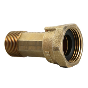 3/4 Inch MPT Brass Water Meter Fitting Short Meter Coupling