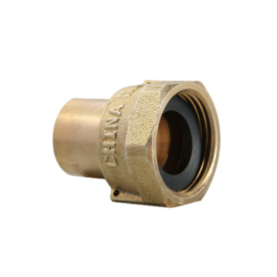 1/2 Inch Solder Water Meter Fitting Meter Coupling Lead Free Brass