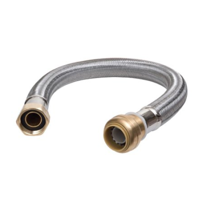 Stainless Steel Braided Water Heater Connector 3/4 Inch FIP×3/4 Inch SharkBite