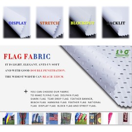 Dye sub flag fabric JYQC-08 provides slight blockage and shield