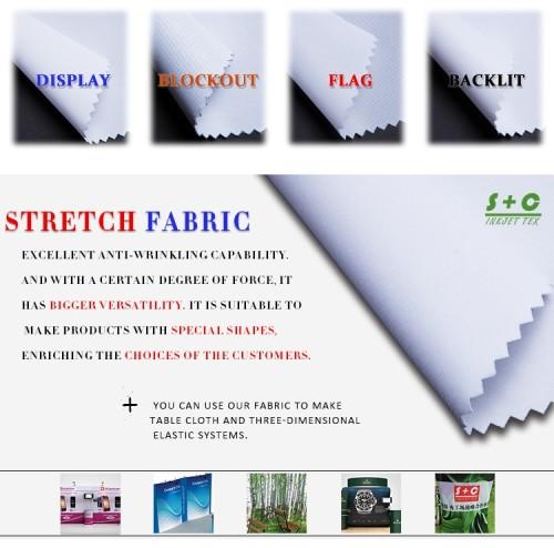 Dye sub tension fabric JYPS-12  has great blocking ability.