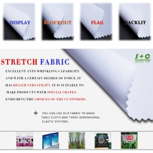 Dye sub tension fabric JYPS-17 has middle-level blocking ability.