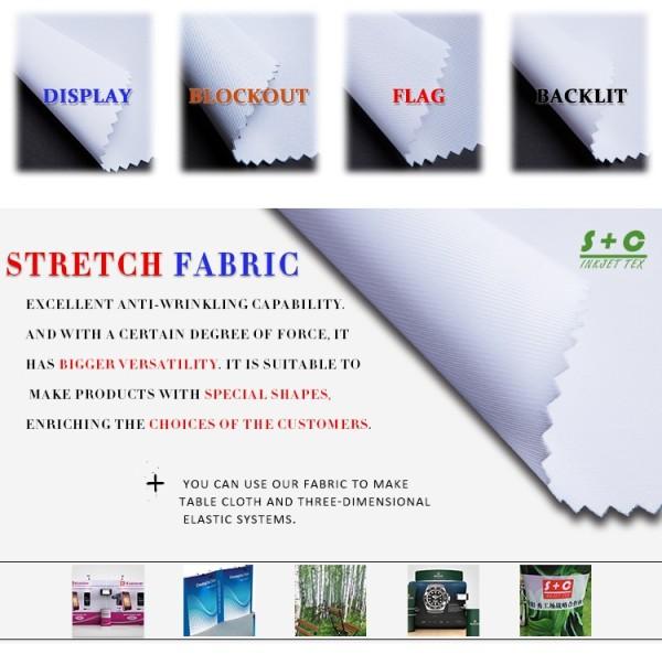 Dye sub tension fabric JYPS-17 has middle-level blocking ability.