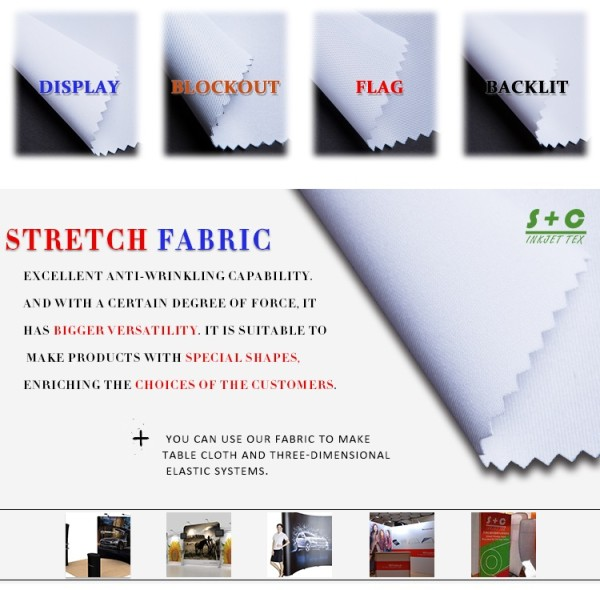 Dye sub tension fabric JYPS-201 Suitable for heat transfer