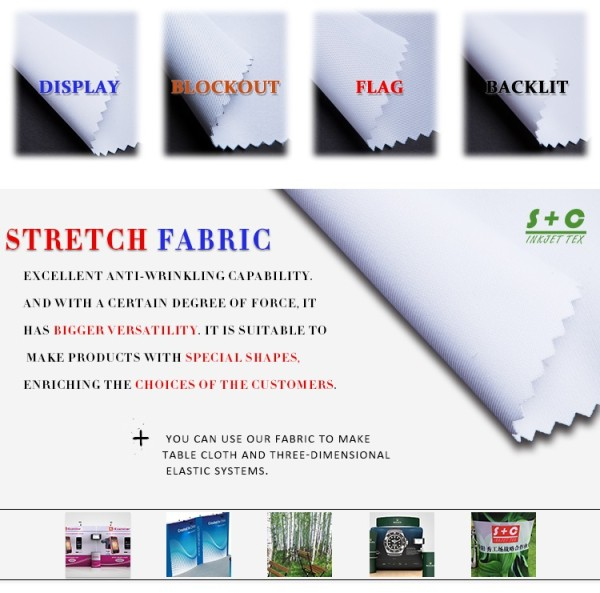 Dye sub tension fabric JYPS-230 has middle-level thickness