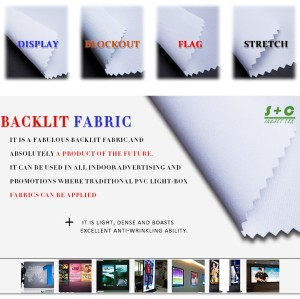 Dye sub light box fabric JYBL-101 are made of white yarns.
